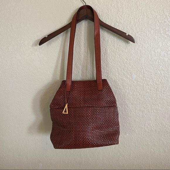 Vintage Americana Sharif braided leather purse